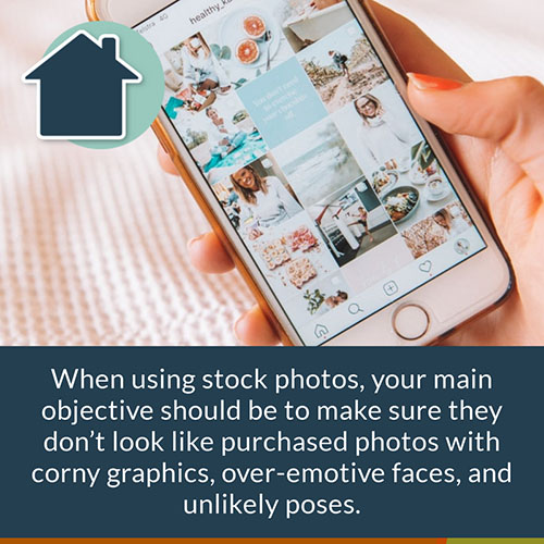 Stock Images on Social Media