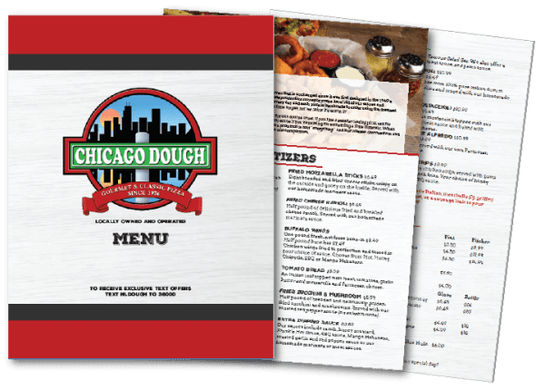 restaurant menu graphic designer