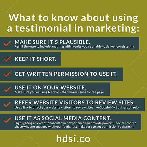 Using Testimonials In Marketing